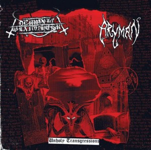 DEMONIC SLAUGHTER & ARYMAN - Unholy Transgressions (CD)